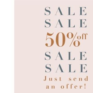 50% off sale starts 9/19!! 50% off everything!!!